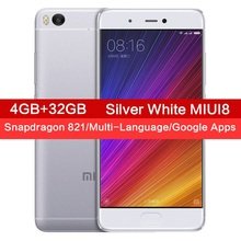 Original Xiaomi Mi5S 4GB RAM 32GB ROM Mobile Phone Snapdragon 821 Quad Core 5.15 Inch FHD Ultrasonic Fingerprint ID