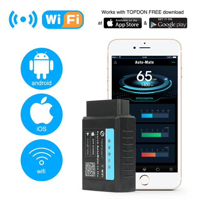 Pic18f25k80 ELM327 V1.5 Wi-Fi Bluetooth Obd2 OBD 2 1.5 диагностики авто код сканер как EasyDiag диагностики авто сканер ELM 327 - Цвет: Automate wifi