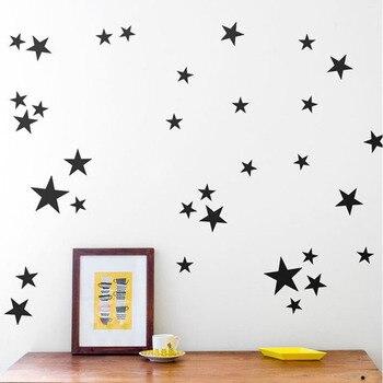 Black Stars 39pcs 3-5cm  1