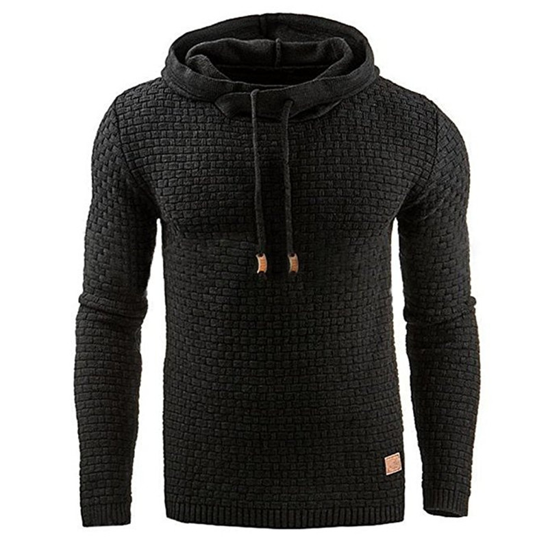 Men 2017 Brand Male Long Sleeve Solid Color Hooded Sweatshirt Mens Hoodie Tracksuit Sweat Coat Casual Sportswear S-4XL