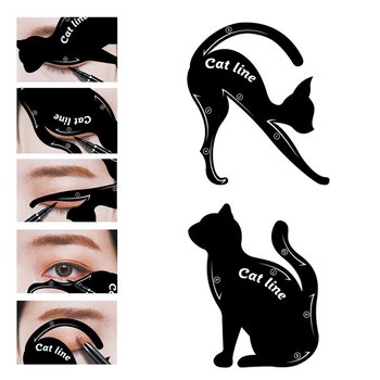 2packs Eye Liner Makeup DIY Cat Eye Eyeliner Stencil New Design Eyebrow Stencils Models Eyebrow Eyes Liner Template Shaper Tools