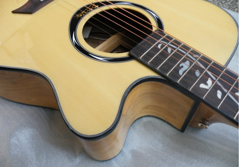 40inch natural color eletric acoustic guitar free shipping цена