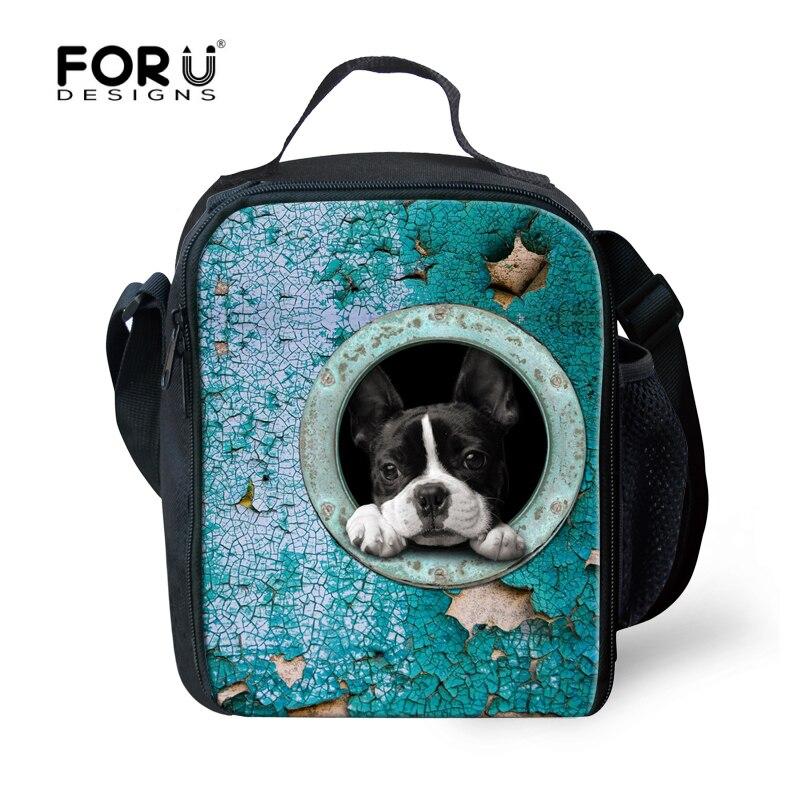 698bab3f6 أنيق مدرسية علب الاغذية كلب القط Lunchbags للأطفال الطلاب نزهة الغذاء معزول  تخزين بولسا Termica Lancheira