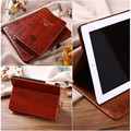Luxo retro velho da antiga virar livro estilo pu leather case magnetic fique smart cover para ipad air 2/ipad234/mini123/mini4