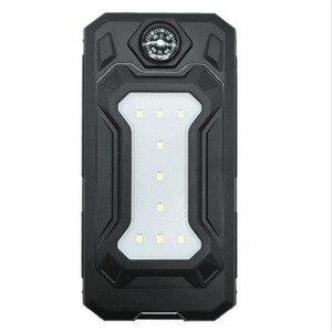Image 3 - Colaier Solar Power Bank Dual USB 20000 mAh Waterdichte PowerBank Bateria Externe Draagbare Zonnepaneel met LED Bourgondië