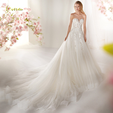 Loverxu Wedding Dress Sleeveless Backless Bride Dress