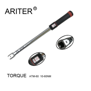 ARITER 10-60N.m Adjustable universal manual  torque wrench with  window scale  display machanical manual torque spanner