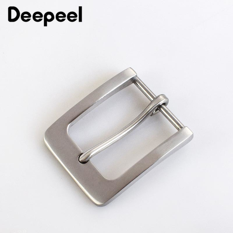 1pcs Fashion Solid Stainless Steel Belt Buckles Metal Pin Buckles Belt Head For Mens Jeans 38-40mm Wide Belt DIY Leather Craft