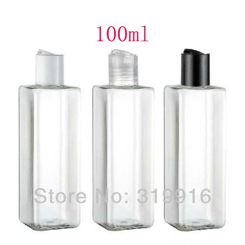 100ml-transparent-squarent-bottle-with-disc-top-cap