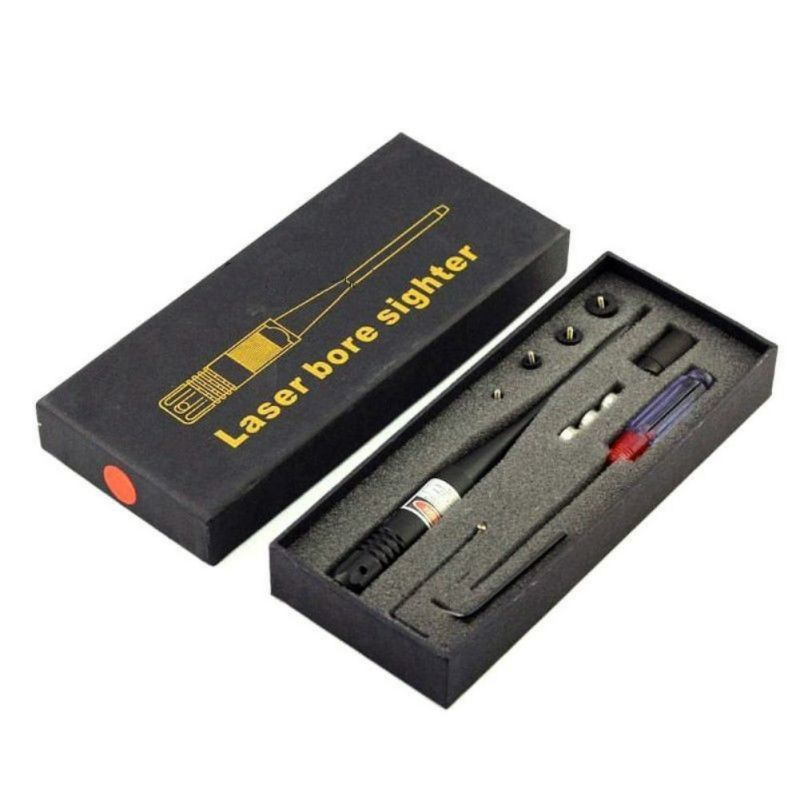 Tactical 650nm scope Red Colimador Laser Bore Sight Scope .22 to .50 Caliber Boresighter New Style 3 Battery Collimator