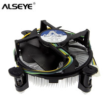 ALSEYE CPU Cooler Fan 90mm PWM 4pin CPU Fan with Heatsink and Copper Base Cooler for LGA 1155/1156/1150/1151 / i3/i5/i7(China)
