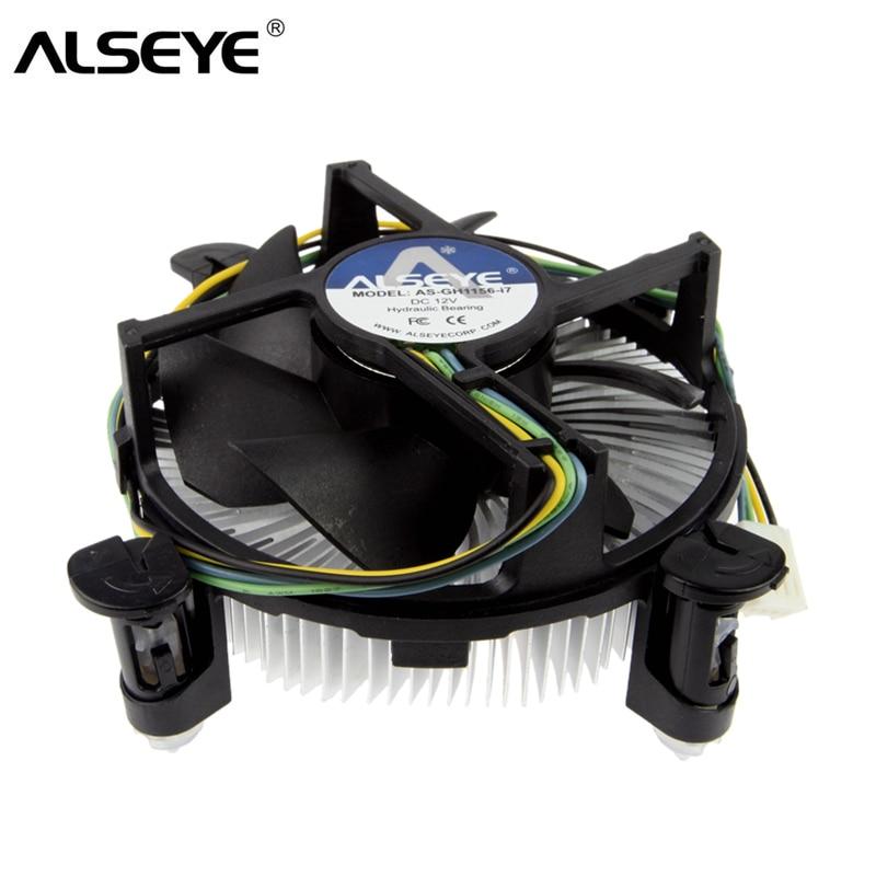 ALSEYE cpu cooler 90mm PWM 4 pines ventilador pc con disipador térmico y enfriador base de cobre para LGA 1155/1156/1150/1151/i3/i5/i7