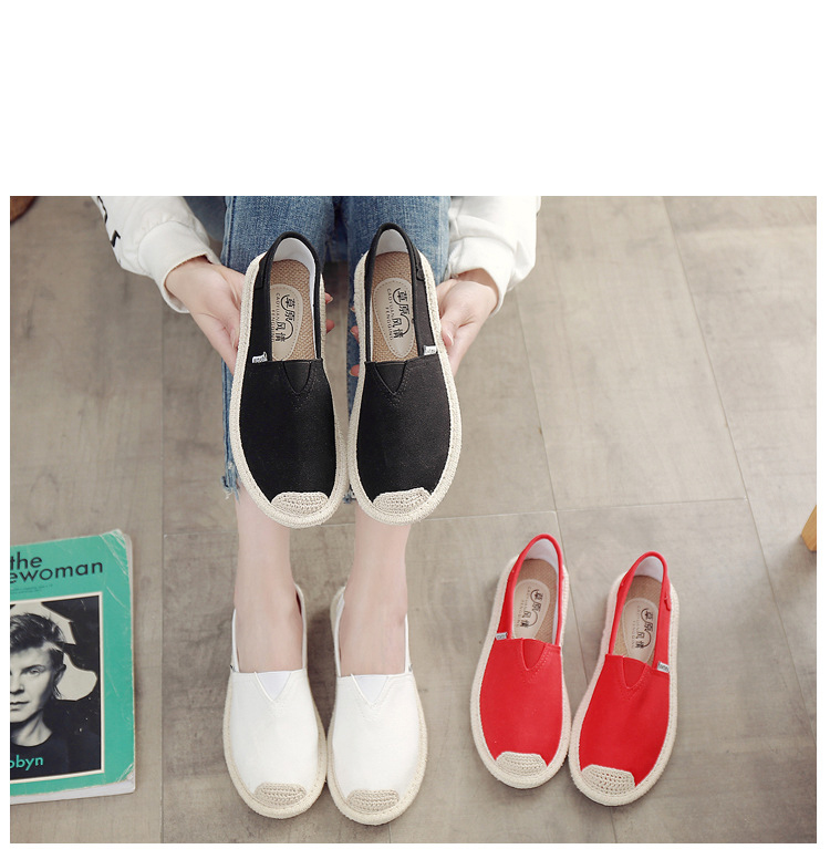Breathable Summer Women Flats Fashion Basic Fisherman Hollow Canvas shoes Lace White Classic Slip On Casual Shoes Women VT230 (5)
