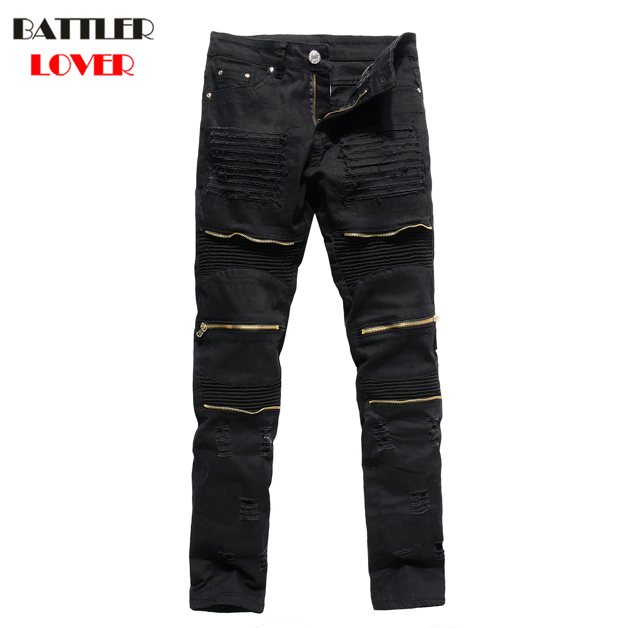 2017 Jeans Men Fear of God Biker Jeans Denim Trousers Mens Hip Hop Game of Thrones Jeans Pant Casual Luxury Brand Slim Fit Pants dsel designer men jeans slim fit straight denim thin stretch mens skinny biker jeans casual pants hip hop denim trousers