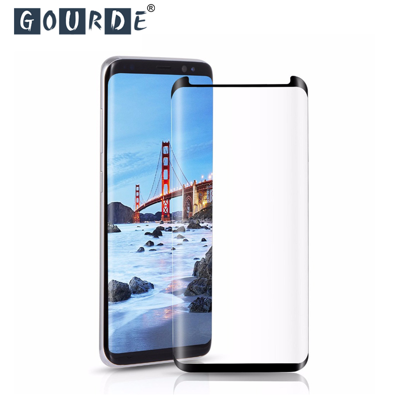 Gourde Tempered Glass For Samsung Galaxy Note9 S9 Plus S8 Screen Protector For Samsung S7 Edge Note 8 S9 3D 9H Protective Glass