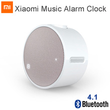Originele Xiao Mi Mi Muziek Wekker Bluetooth 4.1 Ronde 360 Uur Standby Speaker Mi Wekker