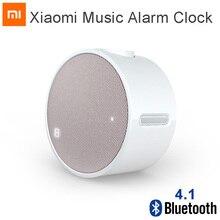 Xiaomi mi música original relógio despertador, bluetooth 4.1 redondo 360 horas standby alto falante mi alarme relógio