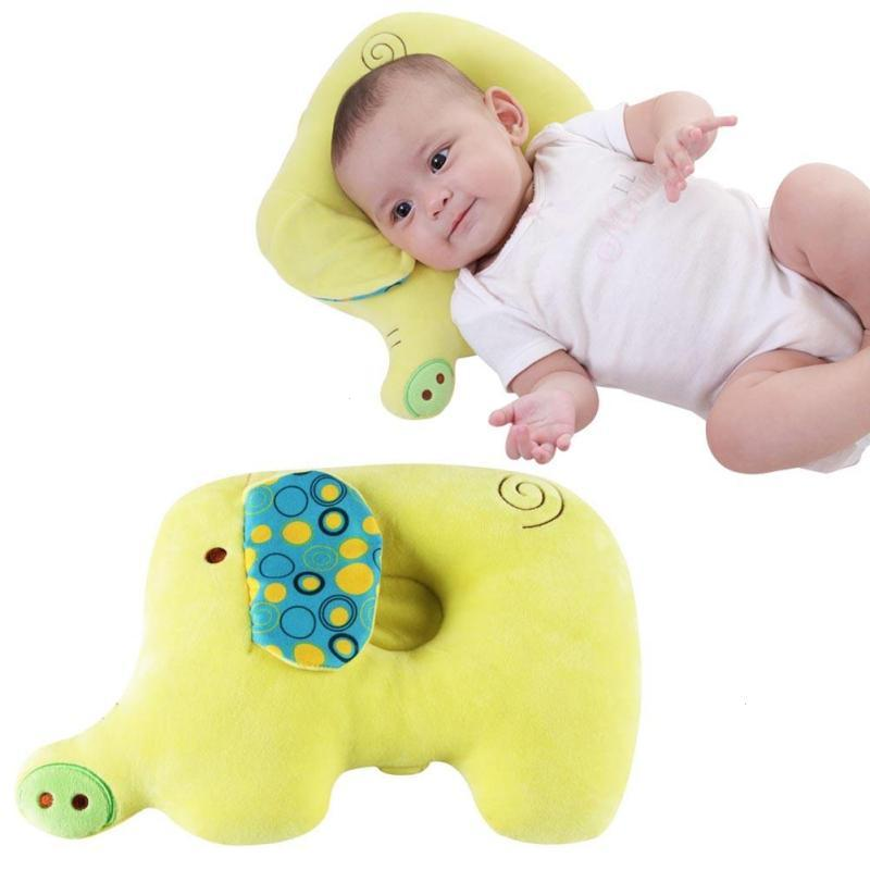 2Pcs Baby Soft Cotton Pillow Cartoon Elephant Shape Arm feeding Pillow Sleep Head Positioner Anti-rollover Sleep Bedding A4