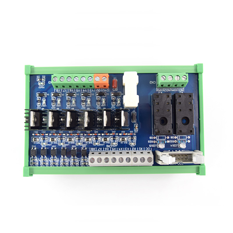 6-way DC, 2-way Hongfa 16A single open relay, 24V module PLC control board, guide rail installation original quality 16 way intermediate relay module plc expansion board belt guide rail high or low trigger 5 12 24v optional
