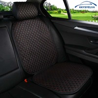 KKYSYELVA 1pcs Front Universal Car Seat Cover Summer Lumbar Support For Office Home Chair Seat Cushion