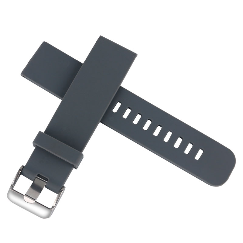 18mm 20mm 22mm Siliocne Rubber Watchbands Gray Watch Strap Waterproof Diving Bracelet For Men Women Wrist Watch Rplace black blue gray red 18mm 20mm 22mm waterproof silicone watchband replacement sport ourdoor with pin buckle diving rubber strap