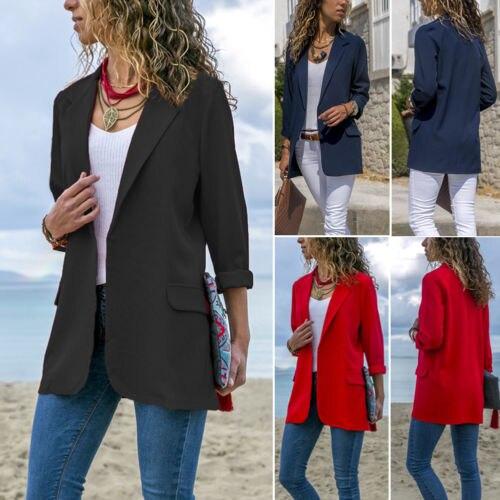 Frauen Kleidung & Zubehör Neue Mode Dame Büro Blazer Solide Anzug Blazer Mantel Outwear Frühling Herbst Frauen Casual Lose Blazer Mantel Größe 34-40