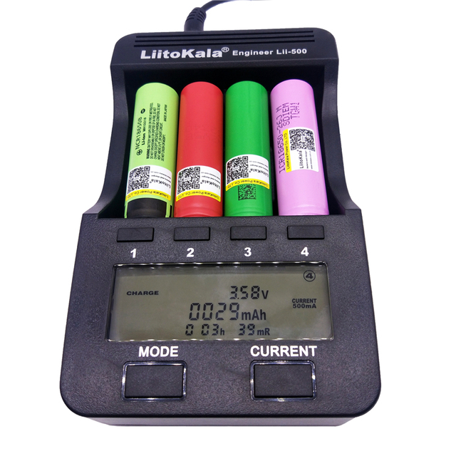 LiitoKala  lii-500 LCD 3.7V 1.2V 18650 26650 16340 14500 10440 18500 Battery Charger ,100% original LiitoKala factory lii500
