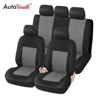 Sports Car Seat Cover Universal Classic Seat Protector Full Set for Toyota Black and Gray Fit Most Car Truck, SUV, or Van
