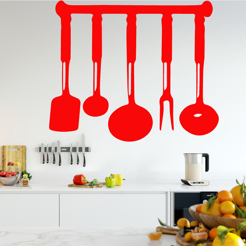 Kitchen Ware Home Decor Wall Stickers for Bedroom Living Room Self Adhesive PVC Wallpaper Home Decoration Accessories Murals