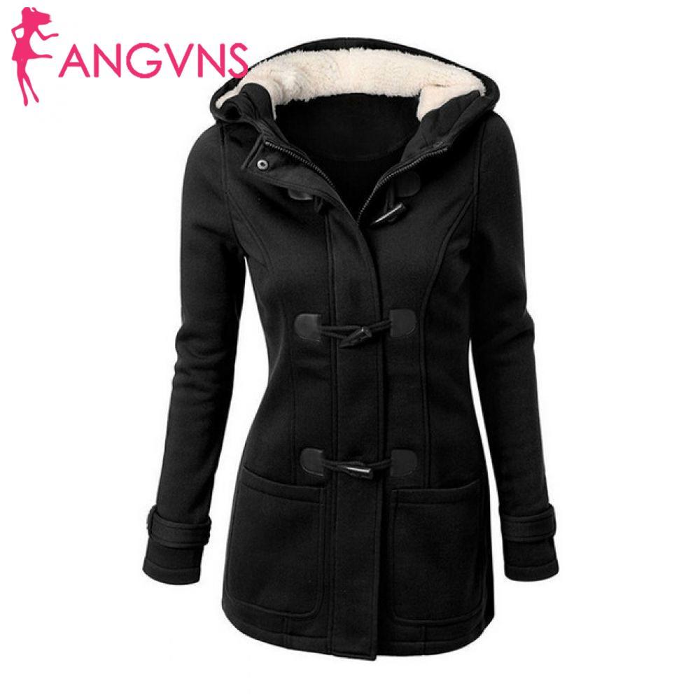 Неповторимый внутри пальто зимнее Для женщин толстый Рог женский молния осеннее пальто длинный плащ куртка Верхняя одежда с капюшоном и