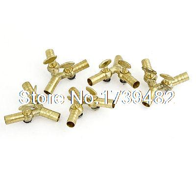 10mm Brass Three Way Double Outlet Y Shape Gas Control Valve