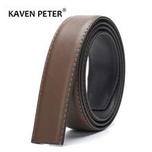 Ceinture en cuir sans boucle pour hommes, de haute qualité, pour jean de largeur 3.4 CM, costume pour boucle réversible