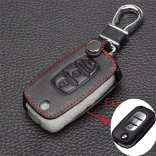 jingyuqin Remote 3 Buttons Car key Leather Case Fob Cover For LADA Sedan Largus Kalina Granta