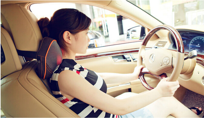 household and car massage pillow neck back hand massage cushion leg  fully body massager with car charger adapter home use