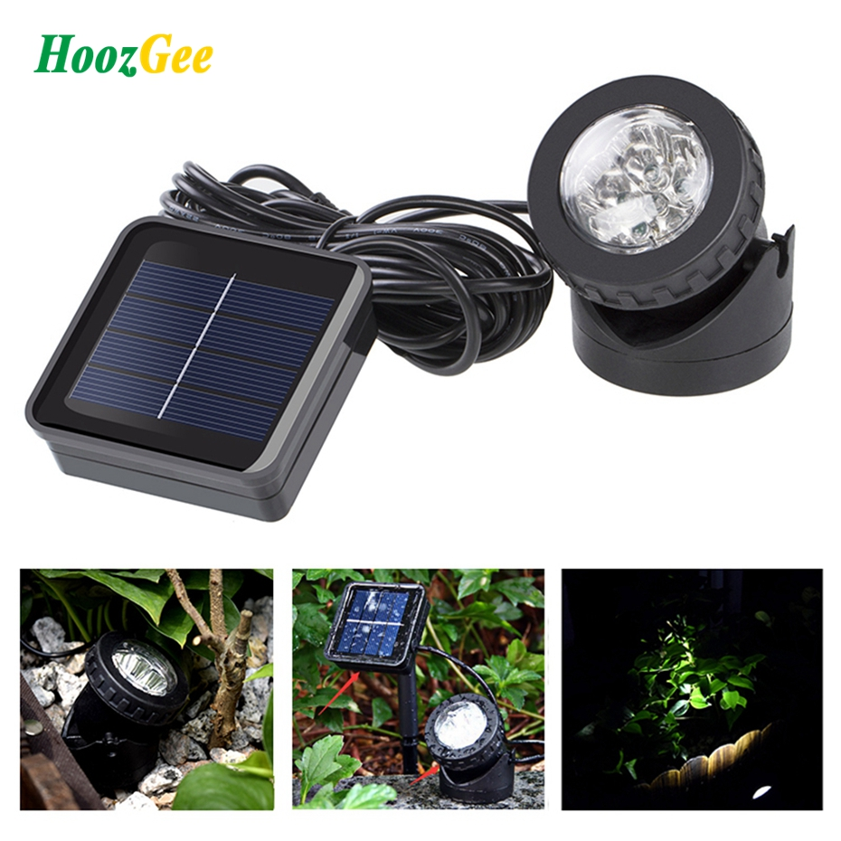 Gartenteichbeleuchtung Us 14 50 Off Hoozgee Solar Spotlights 6 Led Underwater Projection Lights Outdoor Garden Pond Lighting Ni Mh Battery 1 2v 600mah For Patio In Led