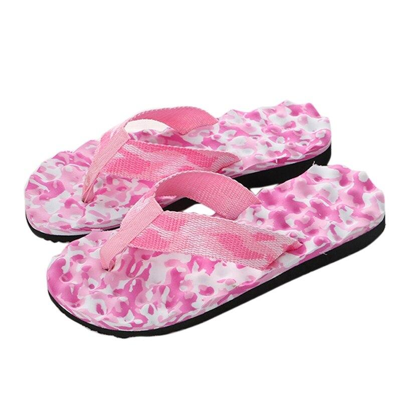 100% Wahr Frauen Sommer Camouflage Flip-flops Schuhe Hausschuhe Sandalen Frauen Innen Außerhalb Flip-flops Weibliche Flache Slipper Frauen Strand Schuhe
