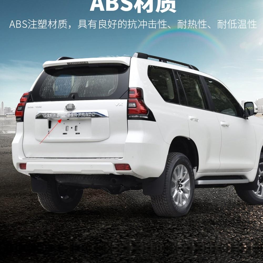 MONTFORD для Toyota Cruiser Prado FJ150 FJ 150 2018 внешний ABS Chrome Задняя Крышка багажника украшения крышки 1 шт. автомобиля аксессуары