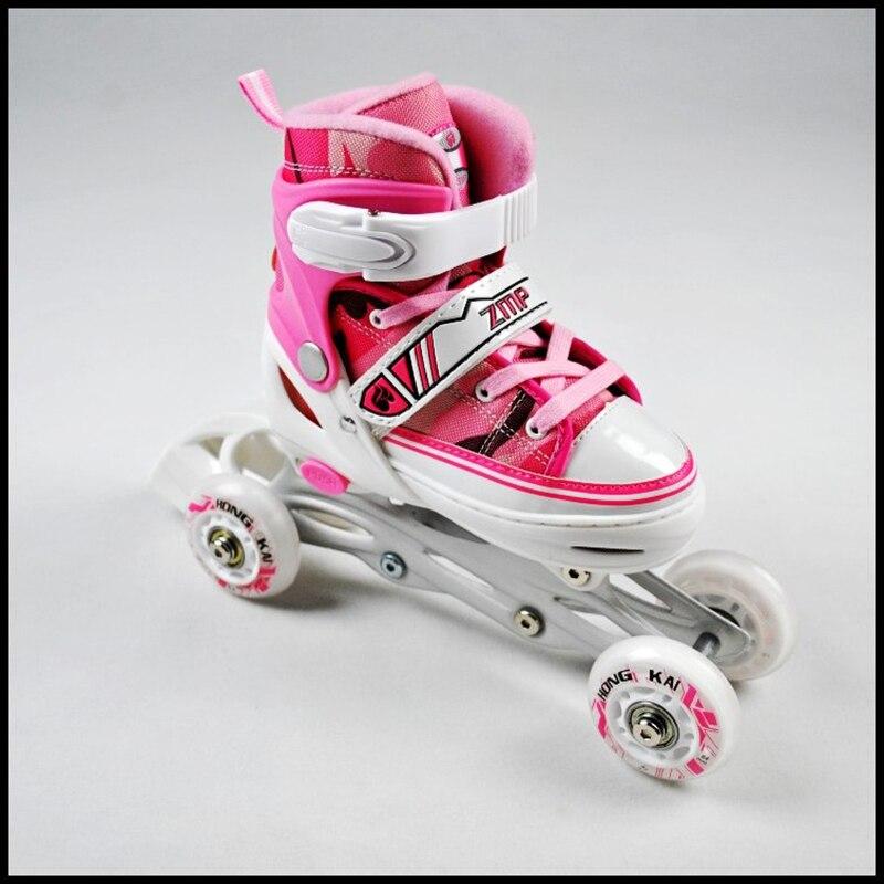 Prix pour Livraison gratuite enfants skate chaussures sûr conception 2 dans 1 breveté chaussures