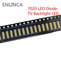 50-100 Uds. SMD LED 6V 1 W/3 V 1W blanco frío 7020 diodo LED LCD luz de fondo iluminación de televisión retroiluminada luz de fondo LED de TV