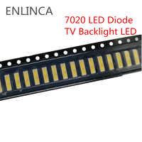 50-100 stücke SMD LED 6 V 1 W/3 V 1 W Kalt Weiß 7020 LED Diode LCD Zurück licht Beleuchtung Fernsehen Backlit Zurück-licht LED TV Hintergrundbeleuchtung