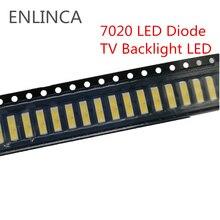 50 100pcs SMD LED 6V 1W 3V 1W Cold White 7020 LED Diode LCD Back light