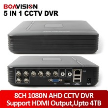 1080N 8Ch AHD DVR CVI TVI DVR 5 W 1 CCTV sieć 8 Kanałów 960 P 720 P Video Recorder Wsparcie Wyjście HDMI, zapisu do 4 TB HDD