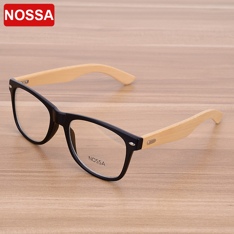 Bamboo Handmade Vintage Rivets Eyeglasses Frame Men Women Students Retro Wooden Glasses Frame Myopia Optical Frame Clear Lens