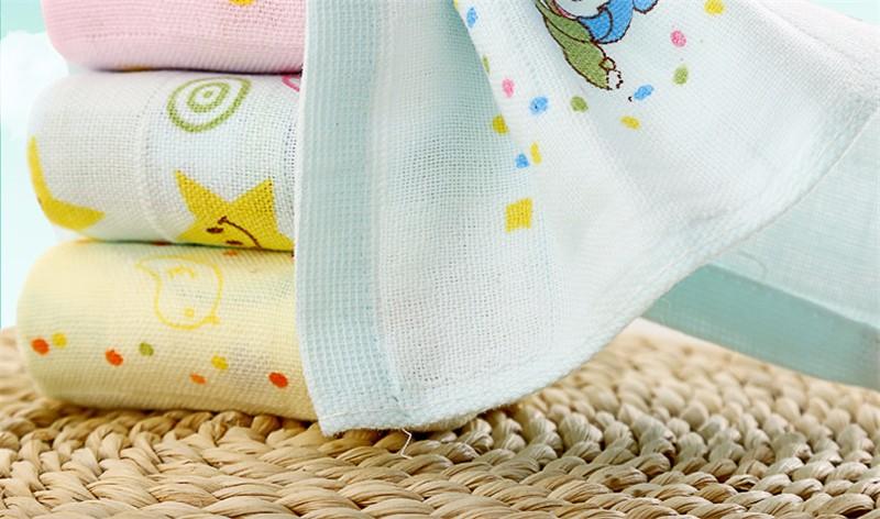 Square Cotton Cartoon Baby Bath Towel (2)