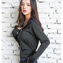 profession sportwear Women hooded sport jacket coat sport workout yoga running coat