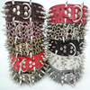 Big Dog Collar Pet Accessories Spiked Studded PU Leather Dog Collar Perro Led Pet Collars And