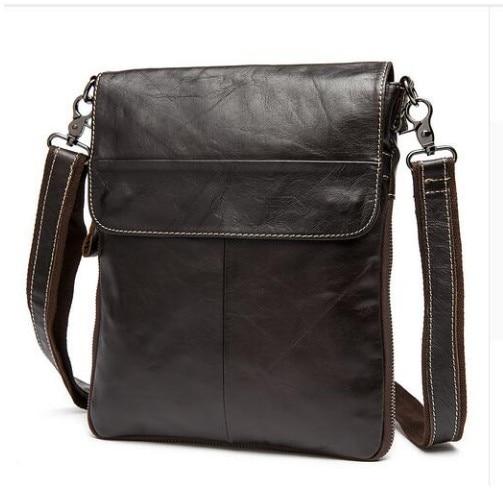 100% Genuine Leather Handbags Men bag crossbody bag Men Leather Messenger Bags Shoulder Bags Briefcase Free Shipping
