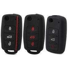 Habillage de voiture en Silicone etui clés, pour Volkswagen polo passat golf 5 6 jetta tiguan Gol CrossFox Plus Eos Scirocco Beetle