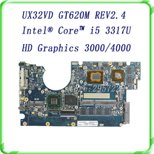 For Laptop Motherboard UX32VD SSD Intel Core I5-3317 CPU GT620M 2GB with 60-NP0MB1N00-A11 UX32VD Mainboard 100% Tested OK