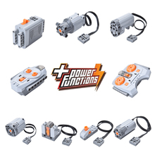 Compatible legoed Motor Technic Series 20053 3368 20001 Remote Control Battery Box Switch LED Light Power Functions  20015 20006